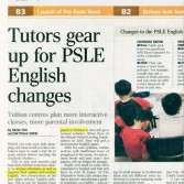 Tutors gear up for PSLE English changes with highlight